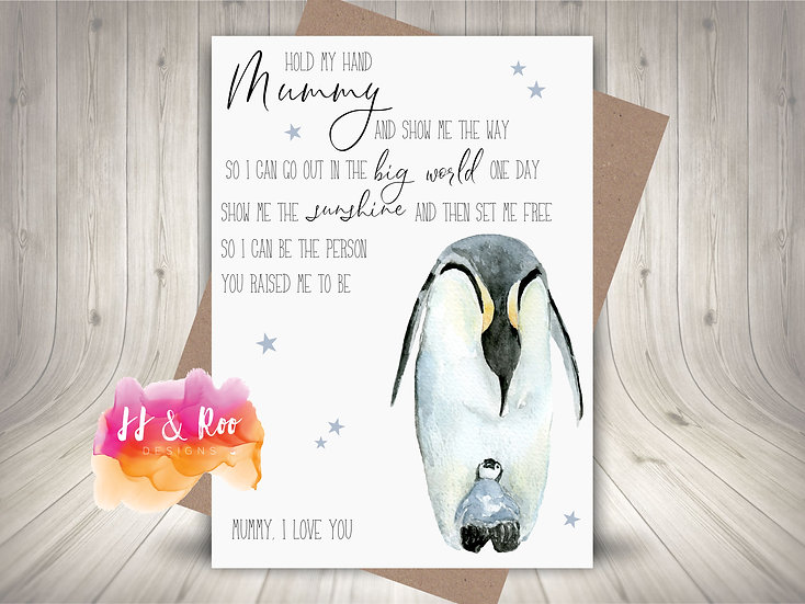 Penguin Mummy & Me Mothers Day Card