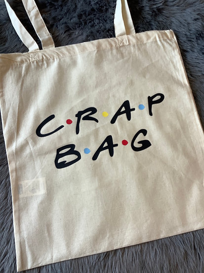 """Crap Bag"" Reusable Tote/Shopping Bag, Friends Inspired"