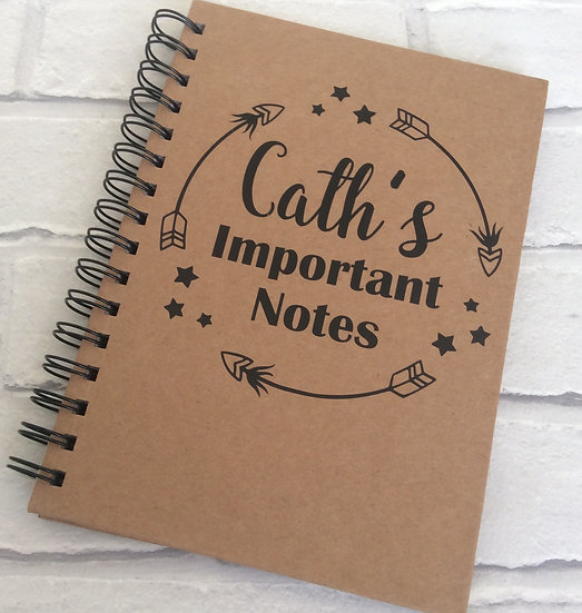 Personalised Notebook/Journal: Important Notes