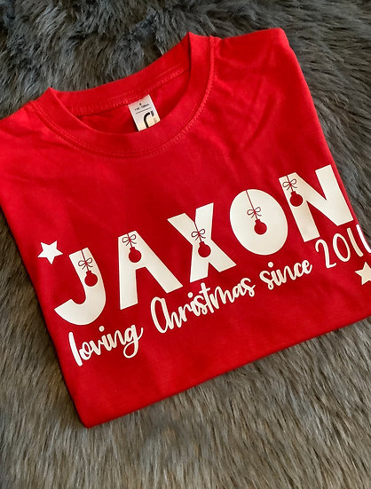 Personalised Children's Christmas T-Shirt