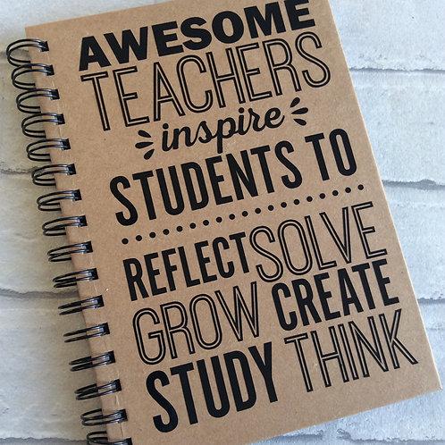 Awesome Teacher A5 Kraft Notebook/Journal