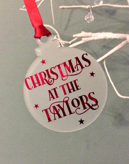 Personalised Family Christmas Tree Decoration