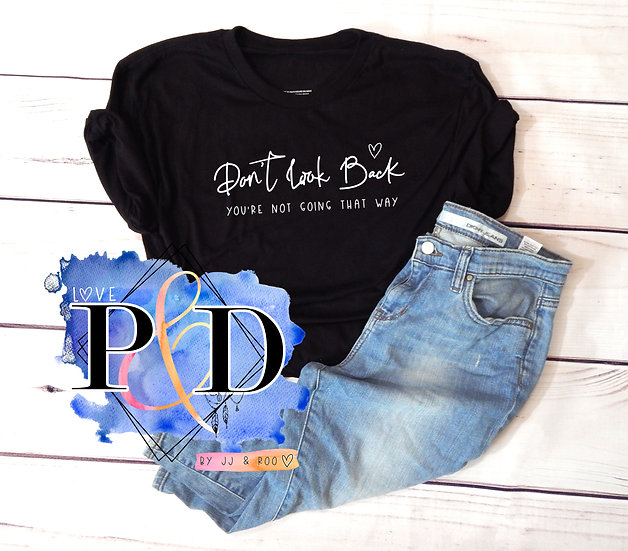 Don't Look Back: Mental Health Awareness Slogan Unisex T-Shirt