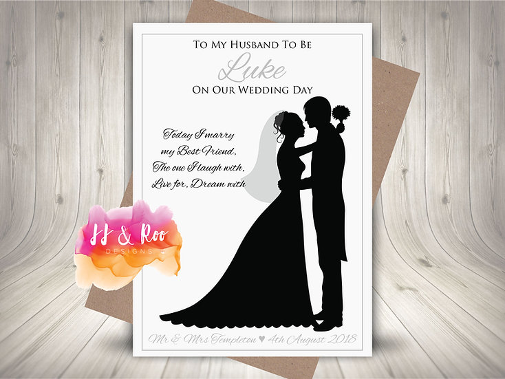 Personalised Husband to Be Wedding Day Card from Bride