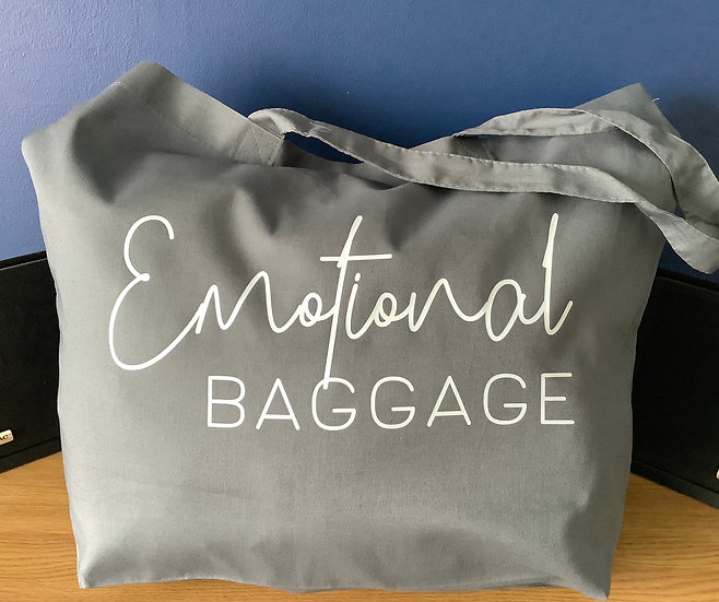 Emotional Baggage: Reusable Oversize Large Cotton Tote Bag