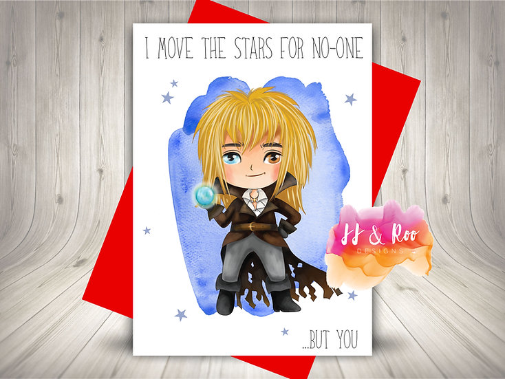 Labyrinth Movie Inspired Valentines Card