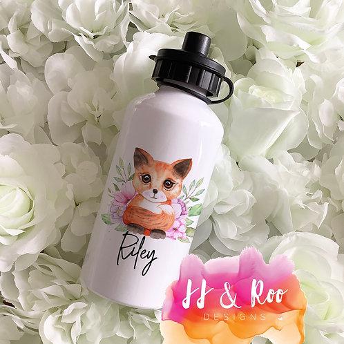 Personalised Metal 500ml Woodland Fox Water/Drinks Bottle