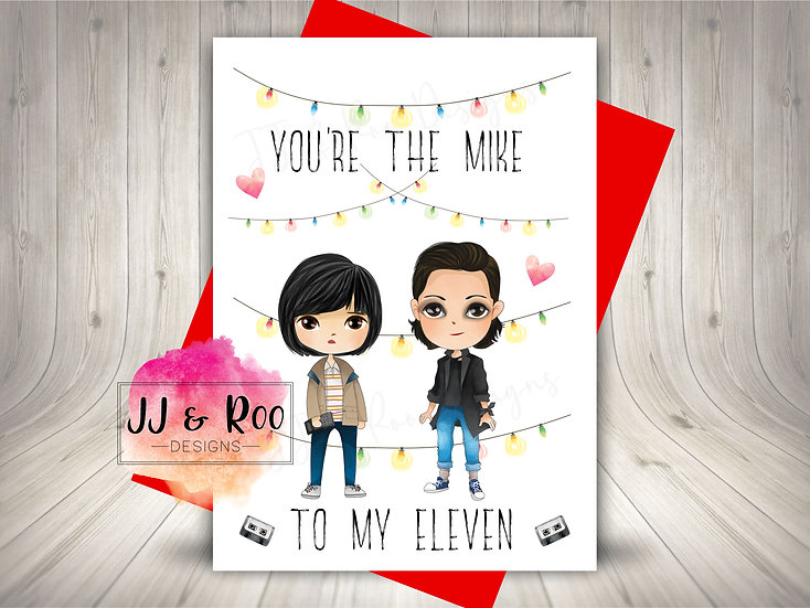 Cute Stranger Things Inspired Valentines Card
