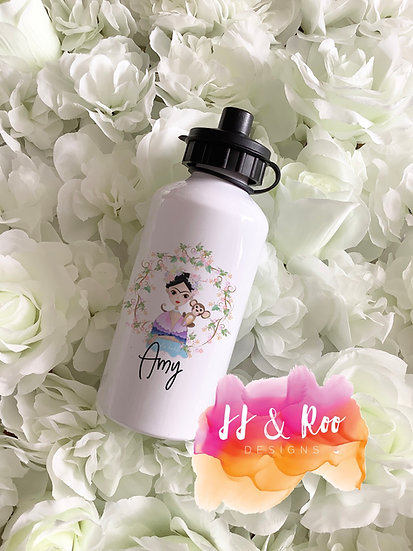 Personalised Metal 500ml Frida Kahlo Water/Drinks Bottle
