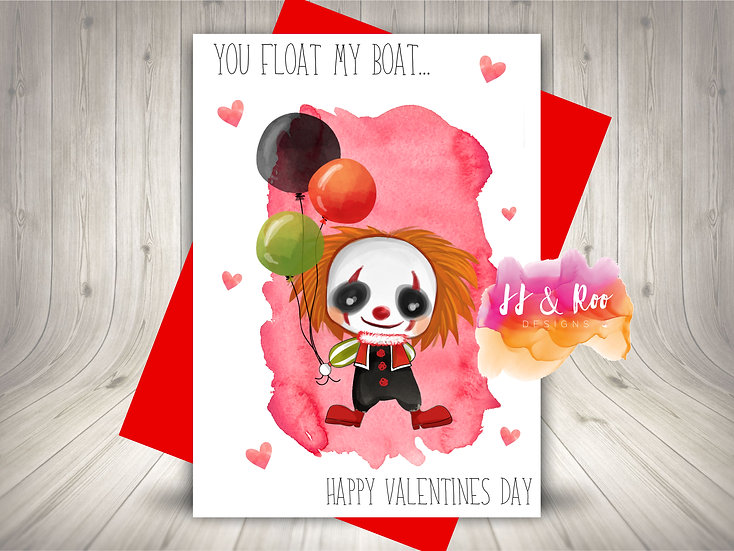 Funny Horror Film Inspired Valentines Day Card