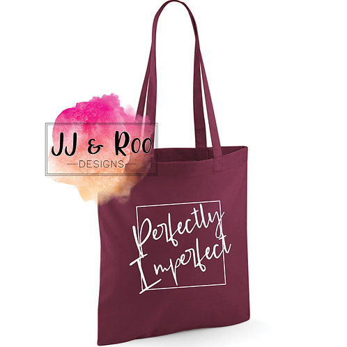 Perfectly Imperfect Reusable Cotton Tote Bag
