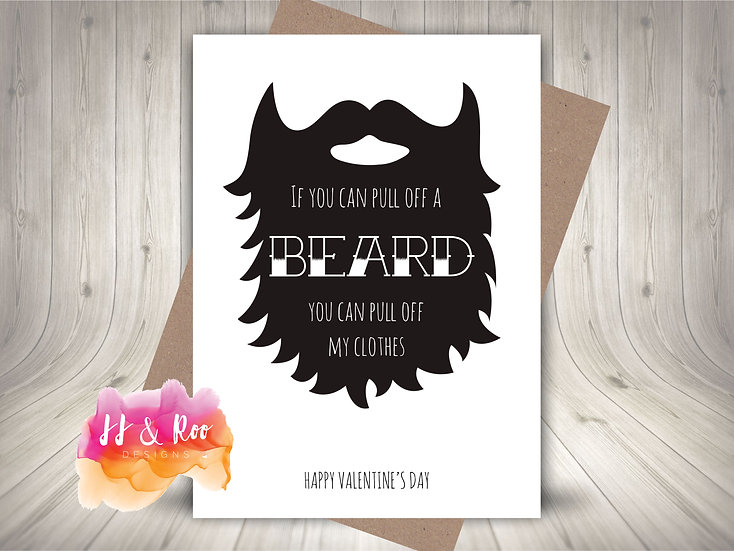 Beard Lover Cheeky Funny Valentines Card