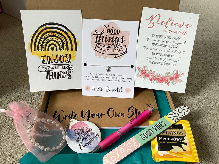 Pick Me Up Letterbox Gift, Little Box of Positivity, Mystery Box, Care Package