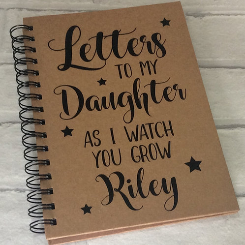 Personalised Notebook/Journal: Letters to My Son/Daughter