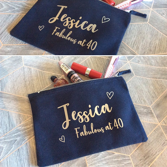 Personalised Make Up/Accessory Pouch/Bag