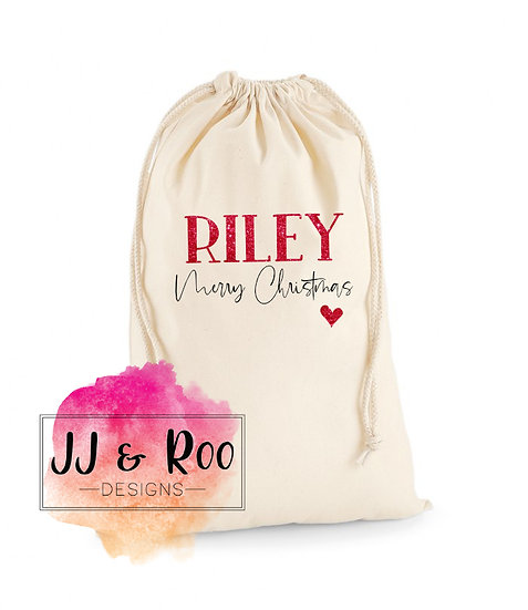 Personalised Christmas Eve Sack, Santa Sack, Xmas Toy Bag