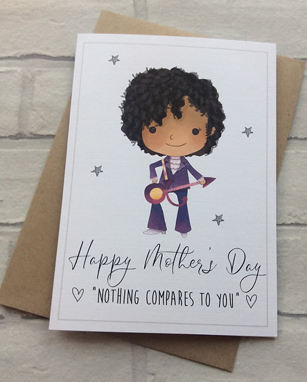 Funny Cute Mother's Day Card: Prince Nothing Compares To You