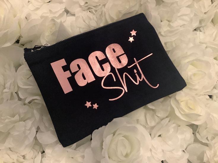 """""""Face Shit"""" Make Up Bag, Profanity Gift"""