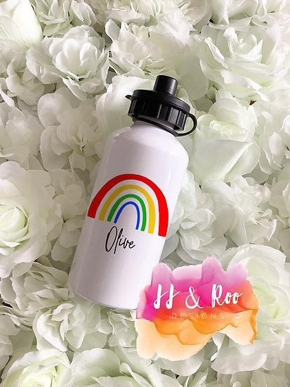 Personalised Metal 500ml Bright Rainbow Water/Drinks Bottle