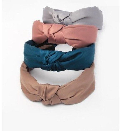 Girls/Ladies Satin Knotted Top Aliceband