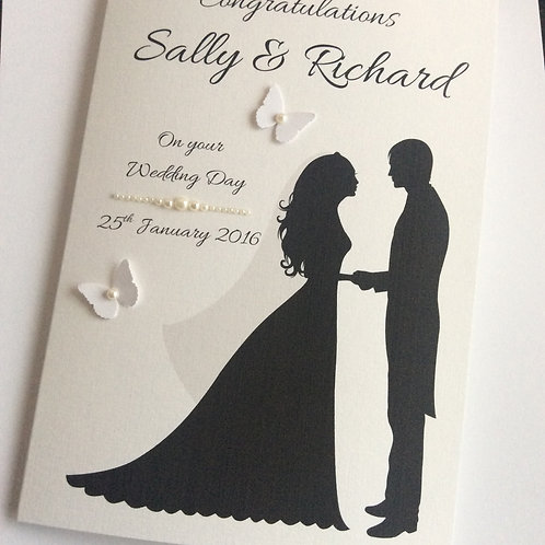 Personalised Congratulations on your Wedding Day Card (Bride & Groom)