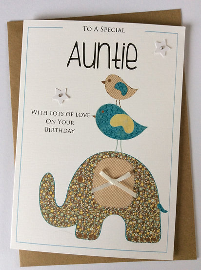 "Personalised ""Elephant & Friends"" Birthday Card"