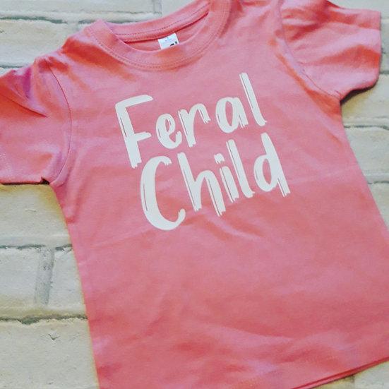 Feral Child Funny Childrens/Kids T-Shirt