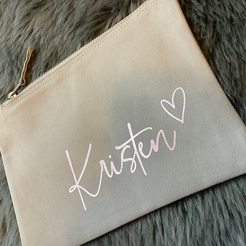 Personalised Accessory Pouch, Pencil Case, Make Up Bag