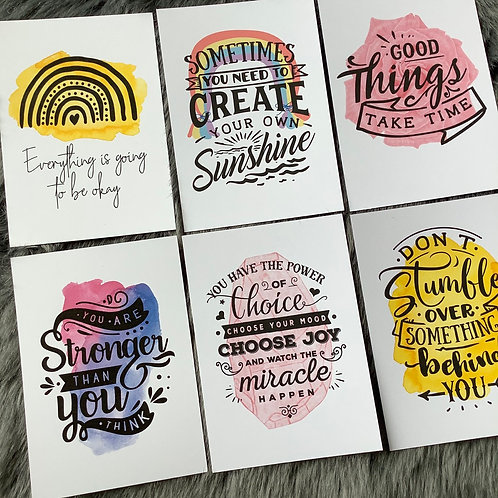 Little Box of Positivity (12 x Affirmation Quote Postcard Prints)