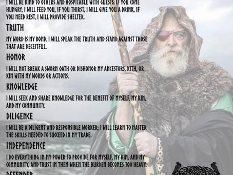 The Nine Oaths to Odin