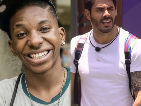 """BBB21: Lucas penteado não reconhece Rodolffo e viraliza na web: """"tu é famoso?"""""""