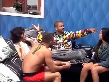 Em falha da Globo, Projota descobre que Carla Diaz e Rodolffo estão no BBB21; vídeo
