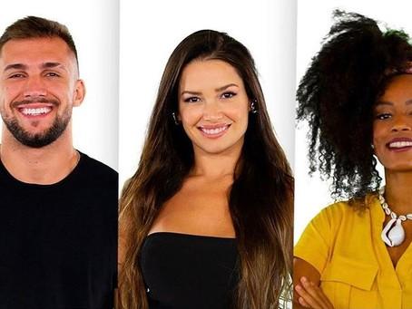 PIPOCA: Lumena Aleluia,  Juliette e Arthur entram no BBB21 com imunidade