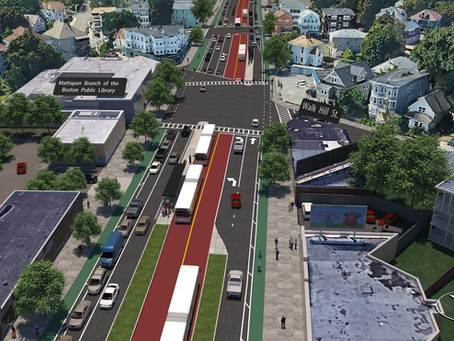 MBTA, Boston seek federal funds to put bus lanes in center of Blue Hill Ave.