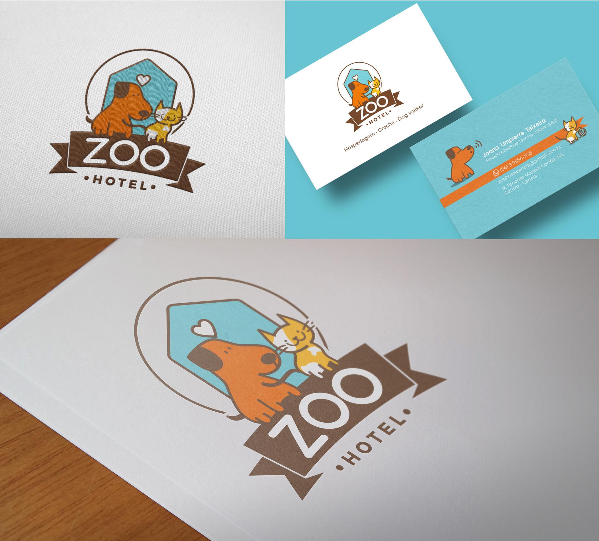 Aplicações Logo Zoo Hotel
