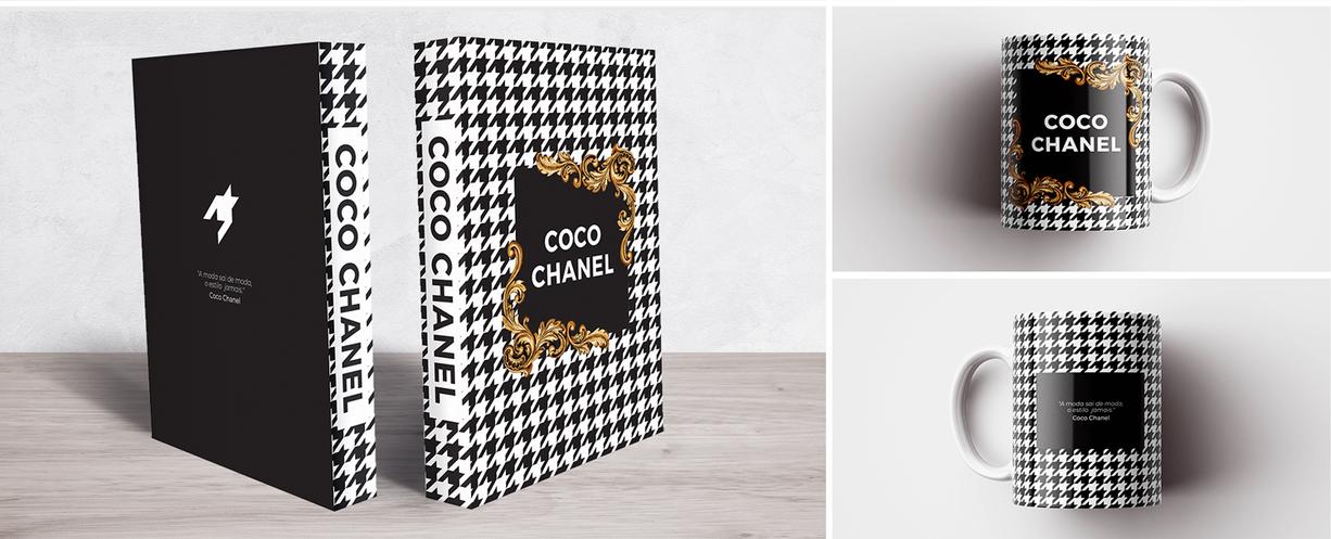 Book Box e Caneca Coco Chanel Pied De Poule