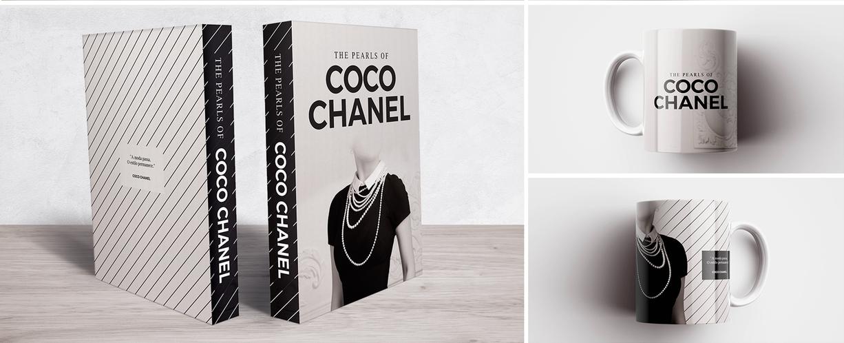 Book Box e Caneca Coco Chanel Pearls