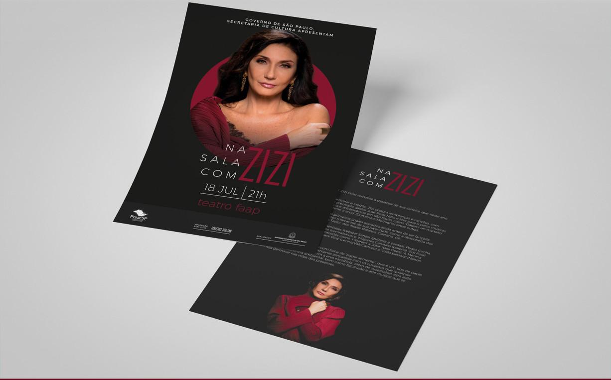 Flyer Na Sala com Zizi
