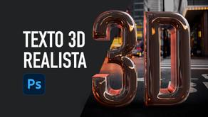 Texto 3D no Photoshop PSD