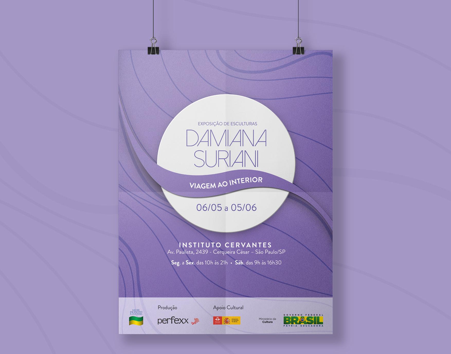 Cartaz Exposição Damiana Suriani