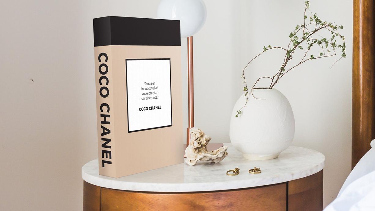 Ambiente decorado com Book Box Coco Chanel