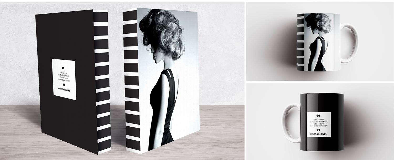 Book Box e Caneca Coco Chanel Dress