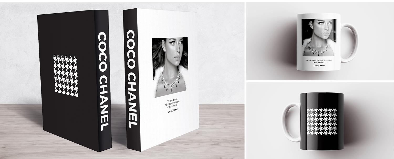 Book Box e Caneca Coco Chanel Jewel