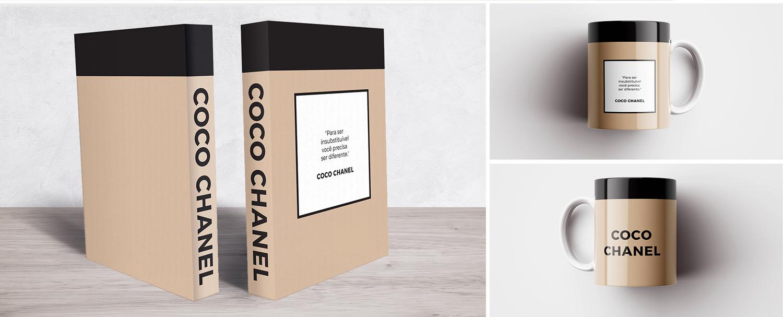 Book Box e Caneca Coco Chanel Duo