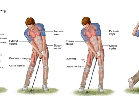 Most frequent injuries of golfers