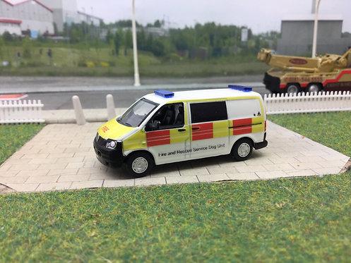 Code3 Fire & Rescue Dog Unit Oxford Diecast 1:76 scale Volkswagen T5