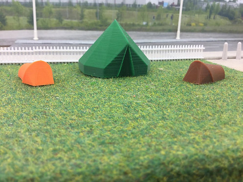 3d Printed Tents 3 pack 1/76 00 Gauge (Pack Type 2)