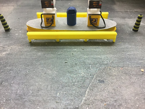 1:76 3D Printed Crash Barriers (Yellow) - 6pkt