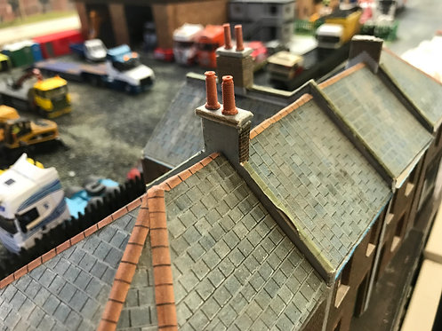 1:76 3D printed Chimney Pots (straight Style And real terracotta)