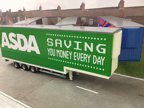 1:76 3D Printed Double Deck Trailer - Asda Livery